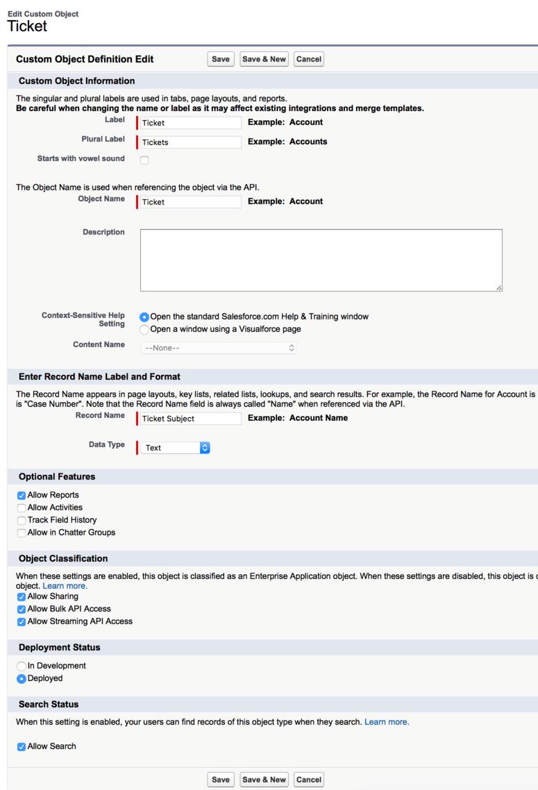 Synchronize Cerb ticket data to Salesforce objects - Cerb